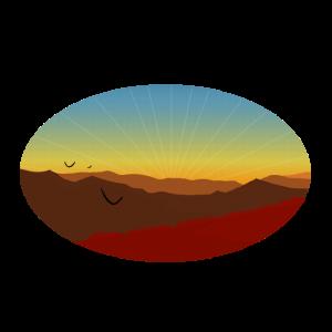 Naturliebhaber T-Shirt: Berg Sonnenuntergang