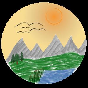 Berge in heiler Welt