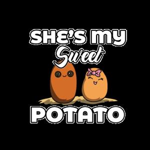 Sie ist meine Süßkartoffel Valentinstag Jahrestag