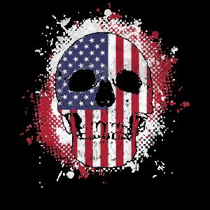 Amerikaner Schädel Flagge