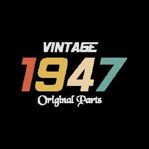 Vintage 1947 Originalteile Tee Geburtstagsgeschenk Retr