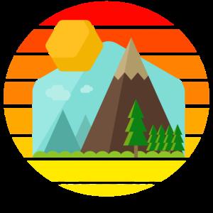 Berglandschaft Sunset