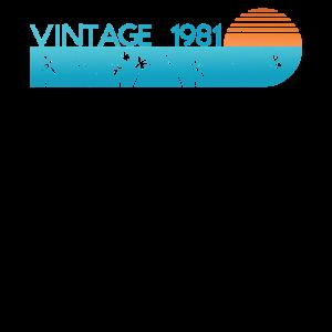 40. Geburtstag 40er Geschenk Vintage since 1981