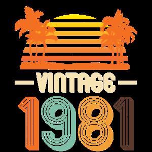40. Geburtstag Männer 2021 40 Vintage Geboren 1981