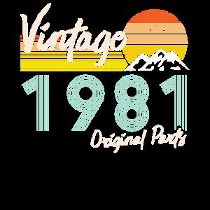 40. Geburtstag 2021 40 Originalteile Februar 1981