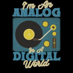 Analog in Digital World Schallplatte Geschenk