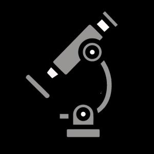 Mikroskop simplistic Geometry colored