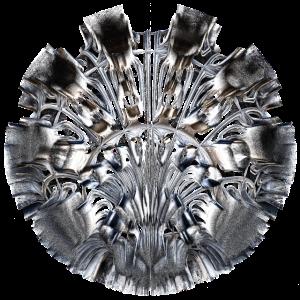 Fractal Art - cooles Emblem in 3D