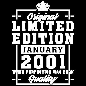 20. Geburtstag Geschenk Januar Jahrgang 2001 20