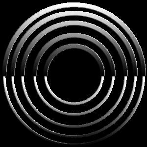 metallische Kreise