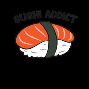 Sushi Addict Japanese Food Eating Sushi