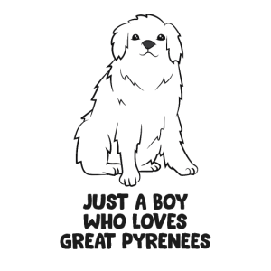 Just a Boy Who Loves Great Pyrenees Dogs