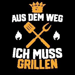 Grillen Grillkleidung Grillkönig Geschenk