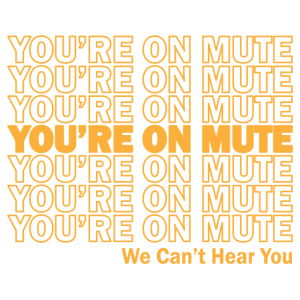 You're on mute We Can't Hear You Witzige Geschenk