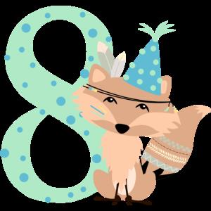 Indianer Fuchs 8 Geburtstag