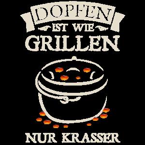 Dopfen Grillen Dutch Oven Dopf Grill Feuertopf