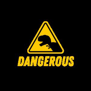 T-Rex Dangerous Sign