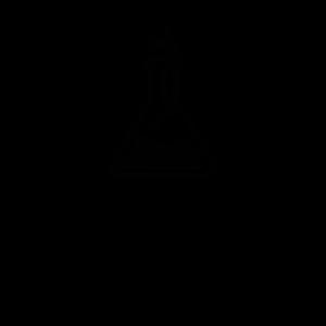 Chemieglas Schwarz