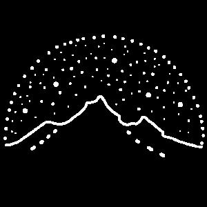 Berge Sterne Himmel Sternenhimmel