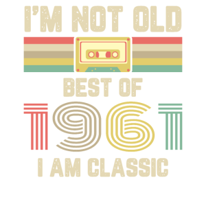 Vintage 1961 Geburtstag Retro kassette Geschenk