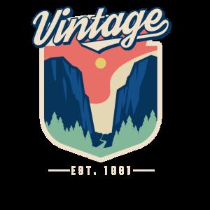 Vintage 1981 Geburtstag Retro Jahrgang Geschenk