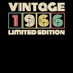 Vintage 1966 Geburtstag Retro Jahrgang Geschenk