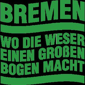Bremen Weser Bogen Macht im Norden Hansestadt