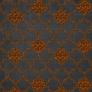 Amber glitter oriental pattern