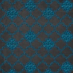 Blue glitter geo pattern oriental patterns