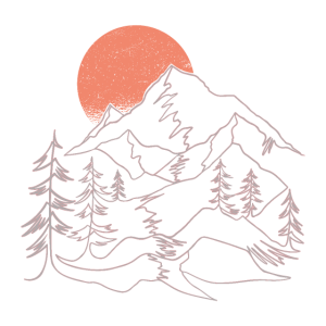 Berge - Landschaft im Sonnenuntergang