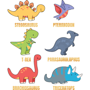 Types Of Dinosaurs Dino Identification - Cute