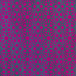 Green Shapes on Pink Background