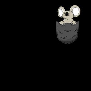Koala in Brusttasche Lustig Geschenk
