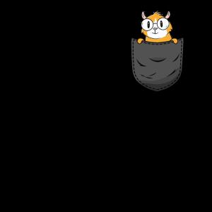 Meerschweinchen in Brusttasche Lustig Geschenk