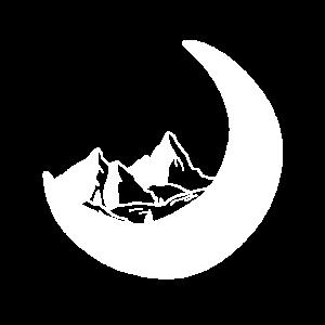 Mystische Berge und Mond