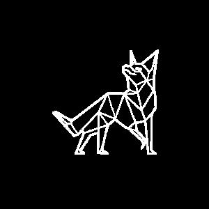 geometrische Fox Künstler und Tierliebhaber Gesche