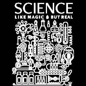 Wissenschaft, wie Magie, aber Real - Weißer Text