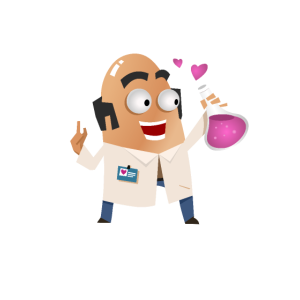 Wissenschaft, wie Magie, aber echt - süßer Cartoon