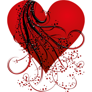 Herz mit Girlanden /Liebe / Valentinstag /Geschenk