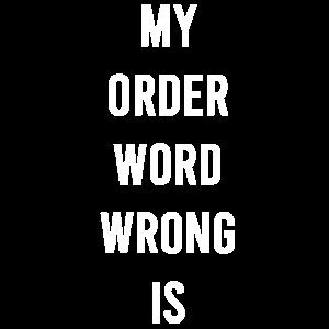 Lustiges Hemd, Wörter
