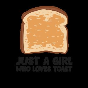 Nur Ein Mädchen Das Toastbrot Liebt