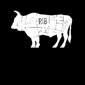 Rind Rindfleisch BBQ Joke Grillabend Geschenk