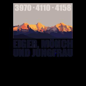 Eiger Mönch Jungfrau Berg Berner Oberland Schweiz