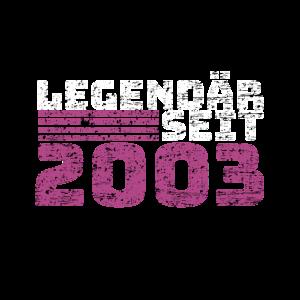 Legendär seit 2003 - 18 Geburtstag – Geschenk