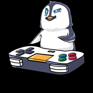 Pinguin Gamepad Kawaii