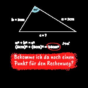 Lehrer Mathelehrer Satz des Pythagoras Geschenk