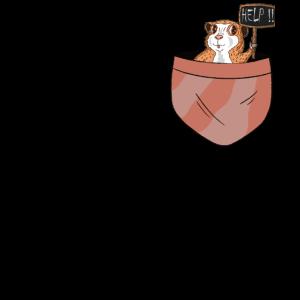 Pocket - Brusttasche-Helft dem Meerschwein- cool