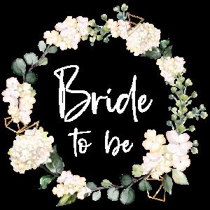 Bride to Be 2021mit Blumen