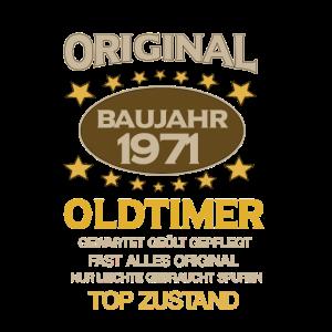 50. Geburtstag, Original Old Timer, Baujahr 1971