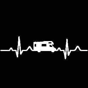 Wohnmobil Herzschlag Camping Geschenk